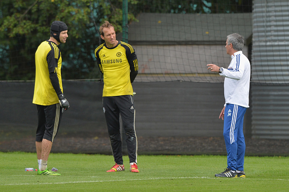 Soccer - Barclays Premier League - Chelsea Training Session - Cobham Training Ground