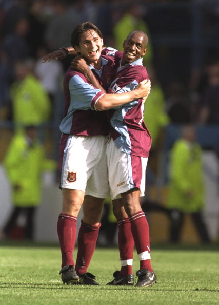 Ian Wright and Frank Lampard