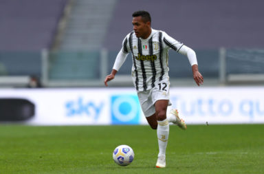Alex Sandro of Juventus Fc  in action during the Serie A