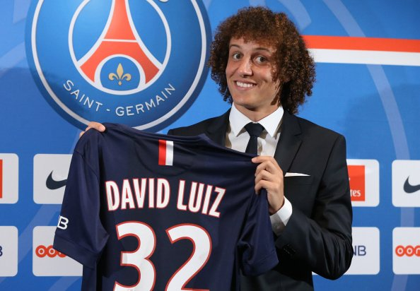 David Luiz Press Conference in Paris