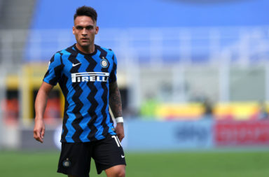 Lautaro Martinez of Fc Internazionale  looks on during the