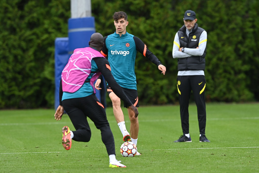 Some Chelsea fans loving what Kai Havertz did in training yesterday