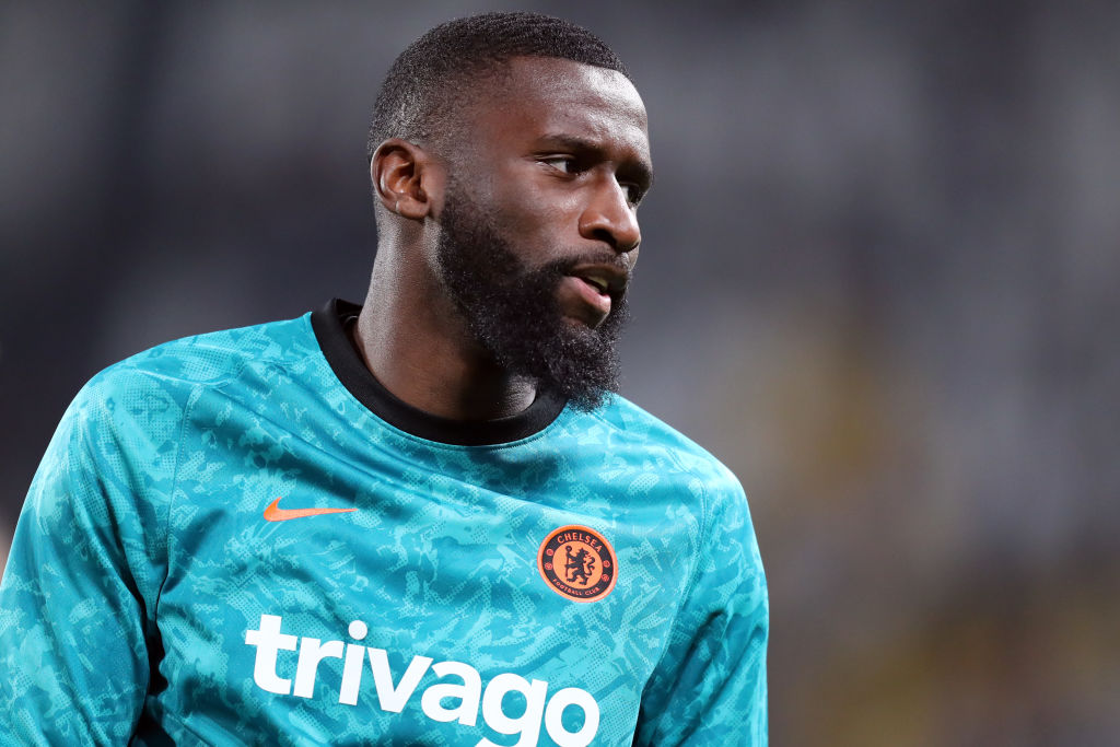 Antonio Rudiger of Chelsea Fc  during warm up before the